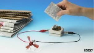 باتری ساخت سونی که کاغذ مصرف می کند