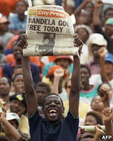 Manifestación por Mandela