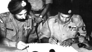 पाकिस्तानी सेना का समर्पण