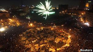 حسنی مبارک، یازده فوریه ۲۰۱۱ پس از تقریبا سی سال حکومت، از سمت خود کناره گیری کرد.