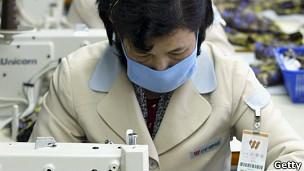 Trabajadora en Corea del Norte