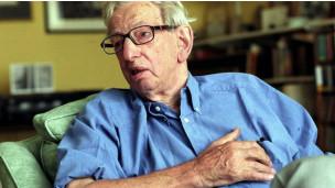 O historiador britânico Eric J Hobsbawm (Rex Features)