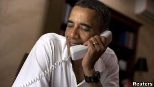 奥巴马打电话