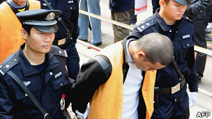Condenados a muerte en China