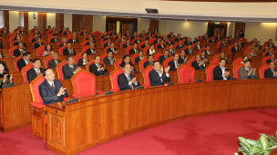 Các uỷ viên trung ương dự hội nghị trung ương đảng lần thứ 4