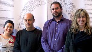 Alfonso Ruiz y miembros del grupo de investigadores de la Universidad de La Laguna