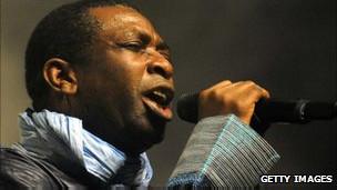 Mwanamuziki wa Senegal Youssou N'dour