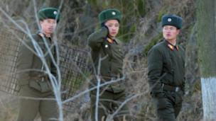 朝鲜边境士兵