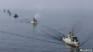 Иранский боевой корабль в Ормузском заливе