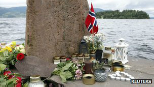 Памятник на острове Утойя