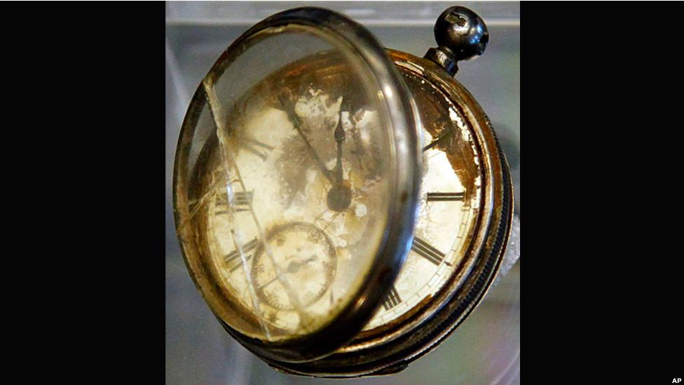 Un reloj de bolsillo encontrado entre las pertenencias de un pasajero de tercera clase llamado William Henry Allen.