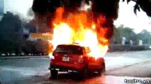 Hình chụp từ video trên trang web của báo Tuổi Trẻ