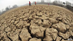 دریاچه خشکشده در چین