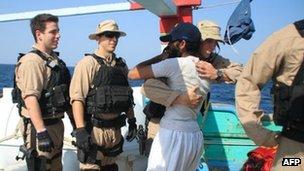 Thủy thủ Iran cảm ơn hải quân Mỹ
