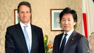 ازومی و گایتنر وزیران دارایی ژاپن و خزانه داری آمریکا