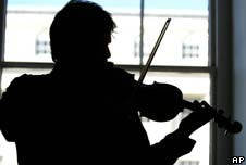 A musician plays a Stradivarius