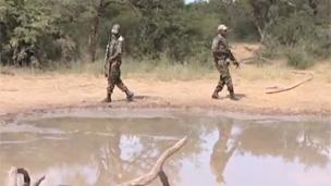 Guardais en el Parque Nacional Kruger