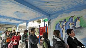 台北选民排队等候投票(14/01/2012)