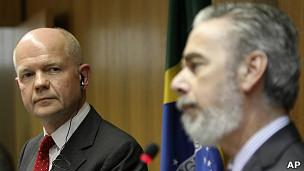 William Hague e Antonio Patriota (Foto AP)