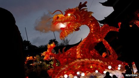 上海某公园内的龙型装饰(17/1/2012)