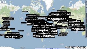Twitter trend MegaUpload