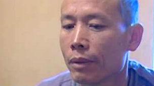 Ông Đoàn Văn Vươn trong khi bị tạm giam