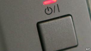 Un botón de apagado y encendido