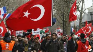 تظاهرات ترک های مقیم فرانسه