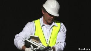 Homem trabalhando
