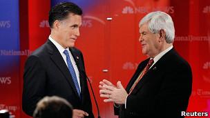 Mitt Romney y Newt Gingrich