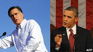 Mitt Romney y Barack Obama