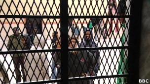طرفداران زندانی قذافی