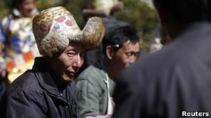 中国四川藏区藏人