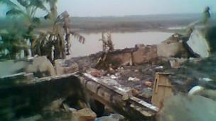 Nhà ông Đoàn Văn Quý bị phá nát