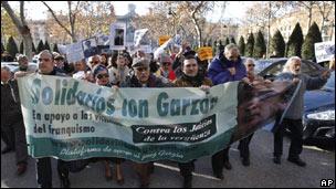 Marcha a favor de Garzón