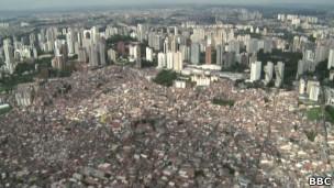 Vista aérea de São Paulo. Foto: BBC