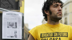 Martín Sanchez (Foto cedida pelo Movimento 15M-Indignados)