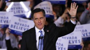 Mitt Romney na wafuasi wake Nevada