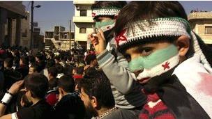 叙利亚示威者
