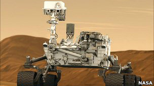 نموذج عن المركبة التي كان من المقرر ارسالها الى المريخ