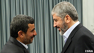 خالد مشعل و محمود احمدی نژاد