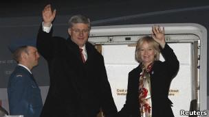 استفان هارپر، نخست وزیر کانادا و همسرش