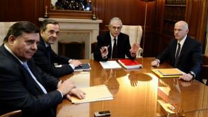 اطراف الحكومة اليونانية