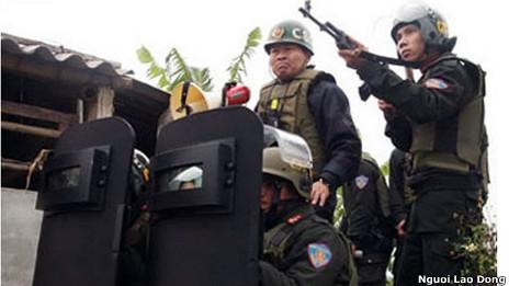 Cưỡng chế ở Tiên Lãng hồi tháng Một năm 2012