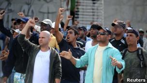 Policias em greve. Reuters