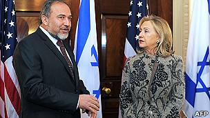 Jefes de la diplomacia israelí y de EE.UU.