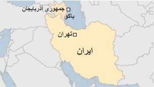 نقشه ایران و آذربایجان