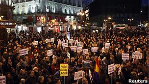 manifestación a favor de garzón en Madrid