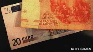 Euro y dracma