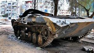 تانک ها در شهر حمص سوریه